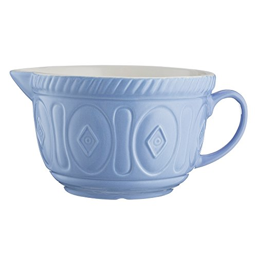 Mason Cash Color Mix Ceramic Batter Bowl; Large Enough to Whisk and Mix Ingredients; Pouring Lip and Handle; 8-Cups/Half Gallon; 10-1/4-Inches by 7-3/4-Inches by 5-Inches; Lilac ()