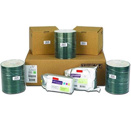 Rimage Everest 600/400 CD-R Media Kit - 500 Rimage Professional Classic CD-Rs (White Top, Diamond Dye), 1 CMY Ribbon, 1 Retransfer Roll ()