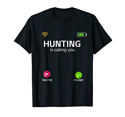 (Hunting is Calling Phone Screen Cover Protector Funny Tshirt)