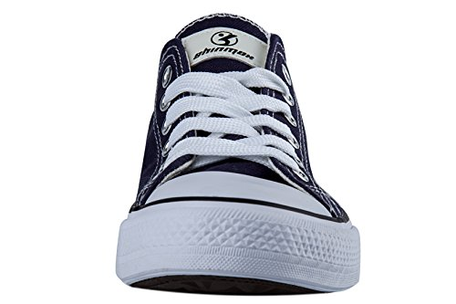 Shinmax Low-Cut Hitops Canvas shoes Unisex Canvas sneaker- Season Lace Ups Shoes Casual Trainers for Men and Women Deep Blue-lowcut yKhRuF