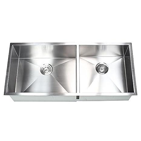 42 Inch Stainless Steel Undermount 60/40 Double Bowl Kitchen ...