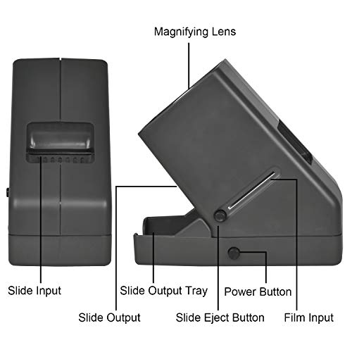 Rybozen 35mm Film and Slide Viewer, 3X Magnification and Desk Top LED Lighted Illuminated Viewing and Battery Operation-for 35mm Slides & Positive Film Negatives by Rybozen (Image #2)'