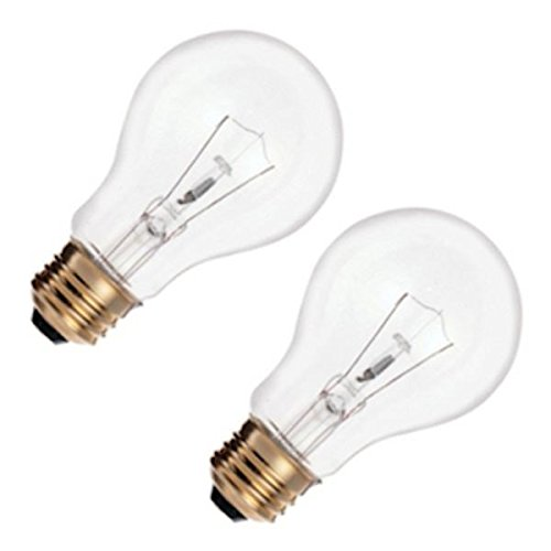 - Satco S3942 2-Pack Bulb,60W a-19 130v,Clear
