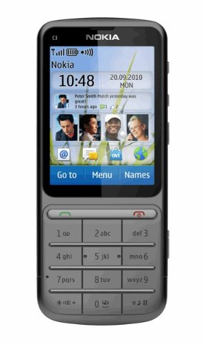 Nokia C3-01 Unlocked Touch and Type GSM Phone--U.S. Version with Warranty (Warm Gray)