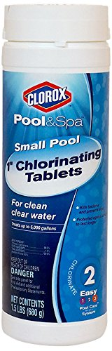 CLOROX Pool&Spa 60001CLX Small Pool 1-Inch Chlorinating Floater Tablets, 1.5-Pound