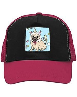 Unisex Unicorn Pug Puppy Bulldog Adjustable Classic Hiphop Hat Baseball Cap Snapback Dad Hat