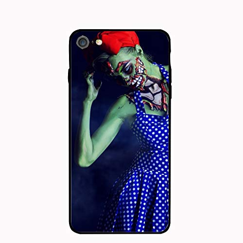 Mobile Phone Shell Halloween Makeup Zombie Phone Case Phone7/8 Protective Cover -