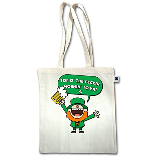 St. Giorno Dei Patricks - St. Patricks Day Spruch - Unisize - Natural - Xt600 - Jutebeutel Lange Henkel