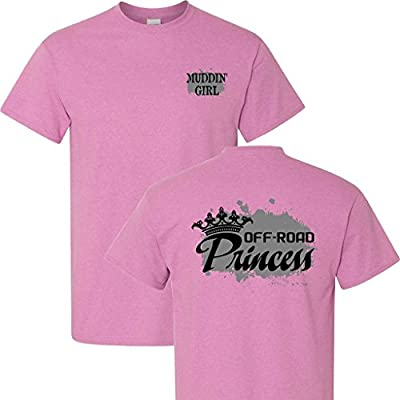 Muddin' Girl Off Road Princess on a Heathered Pink T Shirt