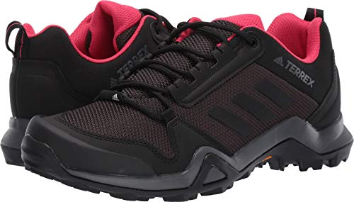 adidas outdoor Terrex Ax3 Womens Hiking Boot Carbon/Black/Active Pink, Size 8