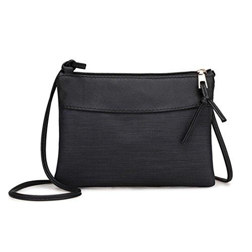 Outsta Retro Bag Shoulder Bag, Fashion Women Messenger Bags Tote Handbag Classic Basic Casual Daypack for Travel (Black)