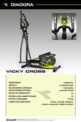 Diadora Vicky Cross Ellittica Giallo