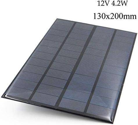 Z.L.FFLZ Mini Solar-Panel wasserdichte tragbare Solar-Panel Mini Solar Kit DIY for Batterie-Handy-Ladegeräte Tragbares 12 V (Color : 4.2W, Size : Schwarz)