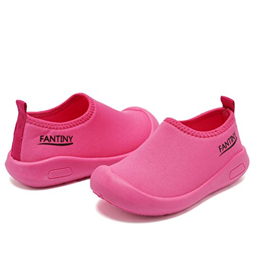 CIOR Kids Slip-on Casual Mesh Sneakers Aqua Water Breathable Shoes For Running Pool Beach (Toddler/Little Kid) SC1600 Red 24 4