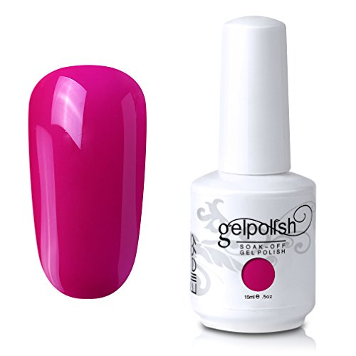 Elite99 Gel Nail Polish Soak Off UV LED Gel Lacquer Nail Art Manicure Dark Magenta 495 15ml (Best Nail Polish Company)