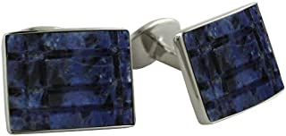 product image for David Donahue Mens Sterling Silver Blue Sodalite Cuff Links