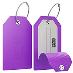 Shacke's Luggage Tags w/ Full Back Privacy Cover Are Easy to Spot   Using a luggage tag to help identify your luggage does not mean it has to be boring. Instead Shacke has developed a new line of long rubber luggage tags that are fun, easy to...