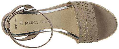 Marco Tozzi 28740, Sandalias con Cuña para Mujer Beige (Taupe 341)