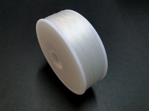 1mm x 100mt Clear Fishing Wire Nylon Non Stretch Beading Transparent Clear Cord Holds Upto 40KG Weight Habercrafts
