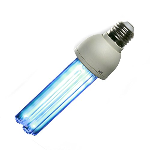 UV Compact Disinfection Light Lamp Bulb Ozone Free E26 15w 120V AC Input for Home Kill Bacterial Clean Air (Uv Lamp For Furnace)