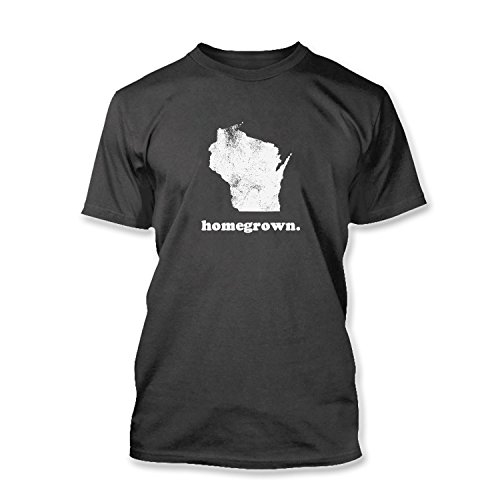 new-mens-wi-wisconsin-home-state-homegrown-home-grown-regular-t-shirt-tee-charcoal-xl