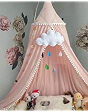 Bed Canopy for Children, Cotton Dome Mosquito Net for Baby, Kids Indoor Outdoor Playing Reading, Bedroom Decoration