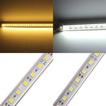 Led Rigid Strip - 50cm V-Shape Warm White White Led Rigid Strip Light - Guided Inflexible Striptease Illumination Conducted Strict Disrobe Illuminate - 1PCs