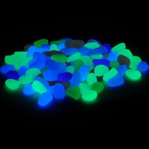 Glow in the dark garden pebbles stone 100 pcs decorative import it all for Glow in the dark garden pebbles