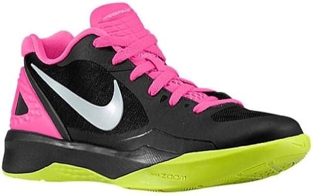 Contaminado no usado empeorar  Amazon.com   Nike New Volley Zoom Hyperspike Women's Size 5 Volleyball Shoe  Black/Pink/Volt   Volleyball