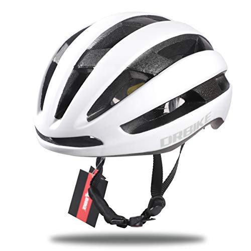 DRBIKE Bicycle Helmet for Men, Women & Youth - Ptraligerformance & Safety w/Active Ventilation, Lightweight PC+EPS Cycling Helmet with Adjustable Straps & Dial, Cycling Helmet for Adult, White