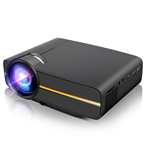 Porjector,LoongSon Home theater Video Projector 1080P, LED LCD Mini Projector Portable Movie Projector Support HDMI, USB, SD Card, VGA, AV for Home Cinema, TV, Laptops, Game, Smartphone & iPad (Black) from LoongSon