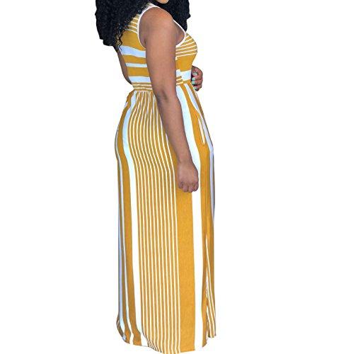 Kleid gelb gestreift