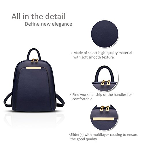 travel students Sapphire use Red wine women trend college ladies backpack bag wind shoulder New for Nicole bag fashion amp;Doris dual OHS4qxwa