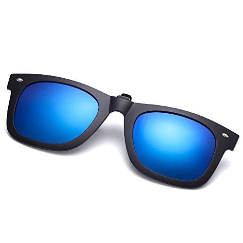 de de Clip vélo Anti Cicongzai Vision Black lentille Soleil Jour équitation de de Lunettes Anti près sur la et UVA UV Clip Lunettes polarisé de Clip Conduite Color myopie de Blue Nuit Deep 6zqwza