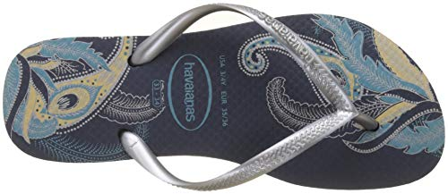 Femme Havaianas Tongs Multicolore Slim navy Organic 0445 silver qqtwFS4rx