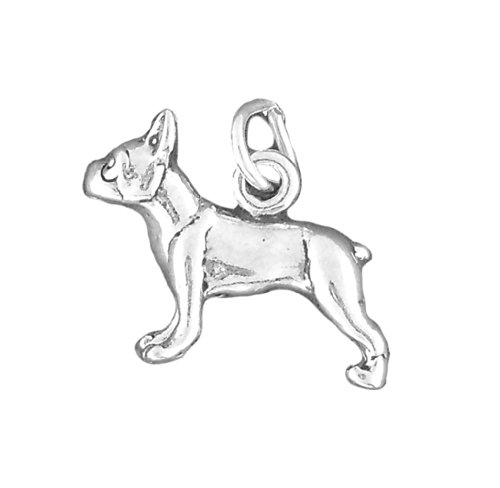 Corinna-Maria 925 Sterling Silver Boston Terrier Dog Charm