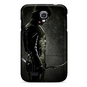 JenmoraBonken GQI6785rucW Protective Cases For Galaxy S4(green Arrow)