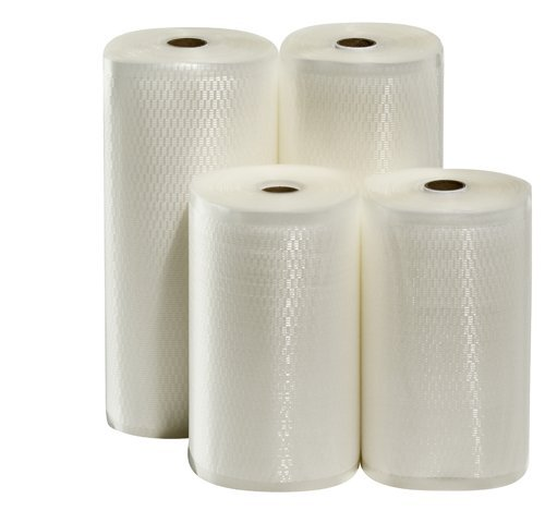 4 Weston Rolls! Two 8'' X 50' and Two 11'' X 50' Roll Vacuum Sealer Bags by Weston