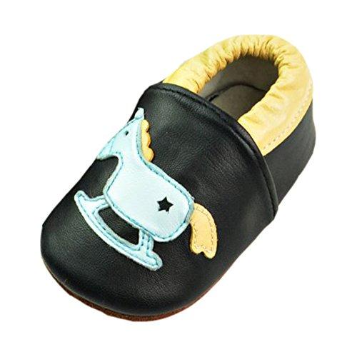 Leap frog Cartoon Leder Sneaker, Baby Mädchen Lauflernschuhe pferd pferd pferd 423303