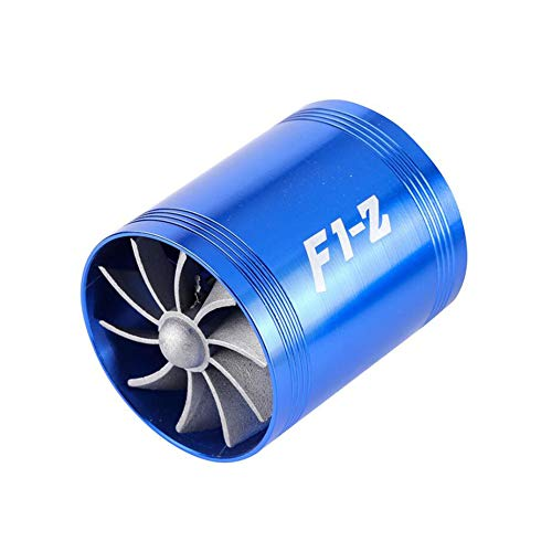 CAR SHUN Double Supercharger Turbine Turbo Charger Air Intake Fuel Saver Fan By For Air Intake Hose: Amazon.co.uk: Sports & Outdoors