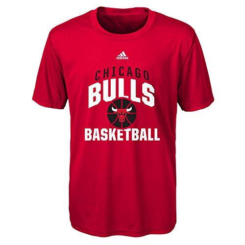 NBA by Outerstuff NBA Rep Big Performance Short Sleeve Tee-Red-L(14-16), Chicago Bulls