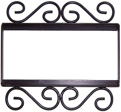 - Wrought Iron House Number Frame Colonial 3