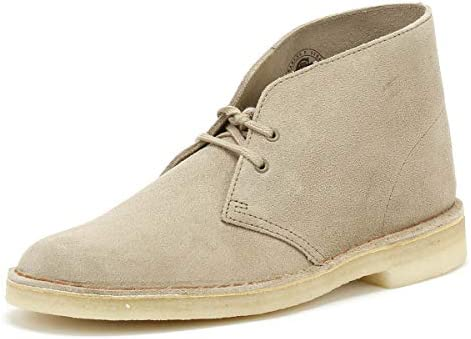 CLARKS ORIGINALS DESERT Boots SAND Beige SUEDE Crepe Sole