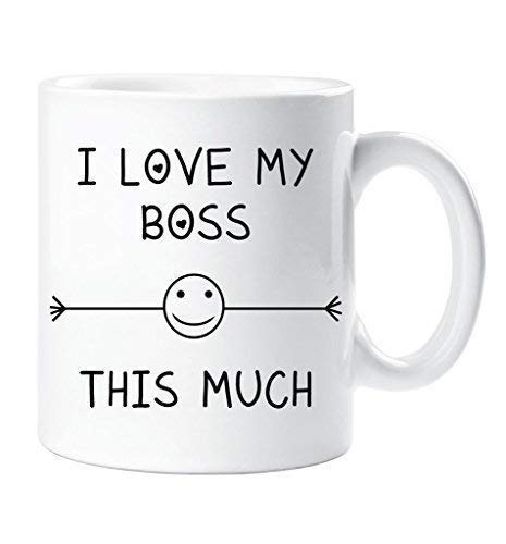 I Love My Boss This Much Mug Friend Colleague Office Employee Secret Santa Birthday Gift Christmas Novelty Humour Funny 60 Second Makeover Limited