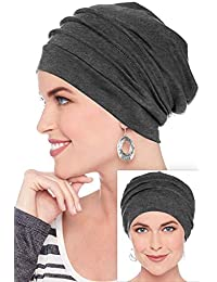 Slouchy Snood-Caps for Women with Chemo Cancer Hair Loss Charcoal