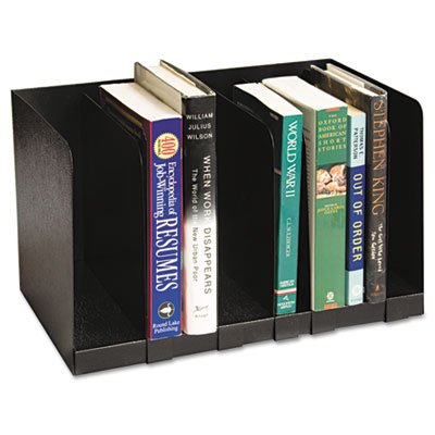 Six Section Book Rack w/Dividers, Steel, 15 x 9 1/4 x 9 1/4, Black, Sold as 1 (Buddy Products Six Section)
