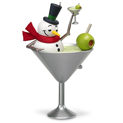 - Hallmark Keepsake Christmas Ornament 2018 Year Dated, I Feel Good Snowman Martini With Music