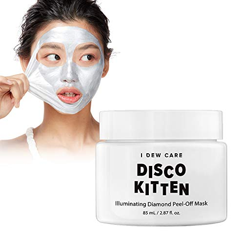 - I DEW CARE Disco Kitten Illuminating Diamond Peel-Off Mask 2.87 Ounces, Facial Metallic Mask, Chrome Formula, Brightening, Exfoliating Pearl Powder,Cruelty-free, Paraben-free