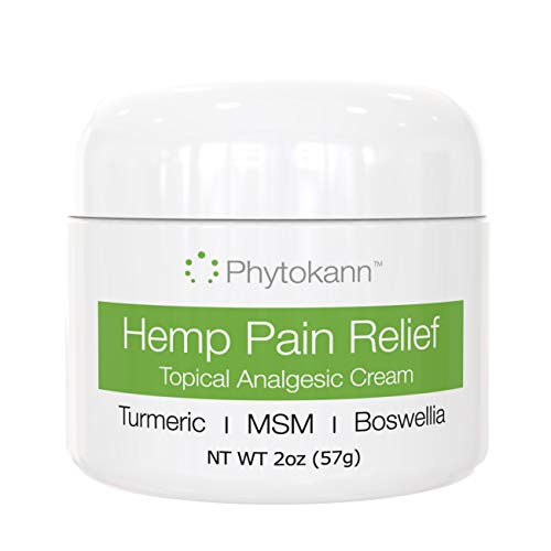 Hemp Pain Relief Cream with Turmeric - Relieves Arthritis, Joint Pain, Inflammation, Back, Knee, Neck, Muscle Soreness. Max Strength - Made in USA with Hemp Extract, MSM, and Boswellia - 100% Natural