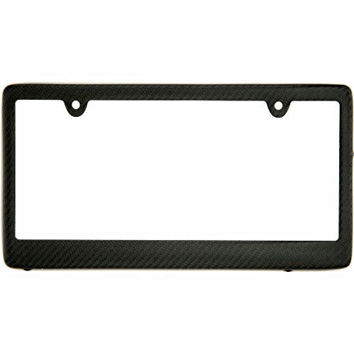 Plate Tags Frame (BLVD-LPF OBEY YOUR LUXURY  Real 100% Matte Black Carbon Fiber License Plate Frame TAG Cover FF)